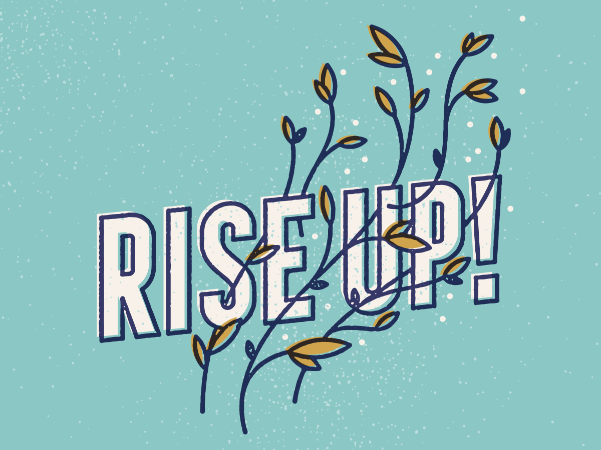Rise Up book cover illustration lettering type