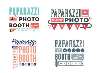 Paparazzi photo booth photography banner camera film vintage rental wedding logo branding