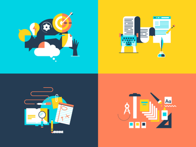 Copy Writing Illos brand illustration writing write icon illustration