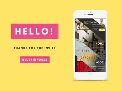 Hello Dribbble! read more books interface debut