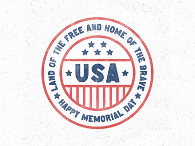 Memorial Day Type blue white red stripes star america usa memorial day design oklahoma badge vintage texture type