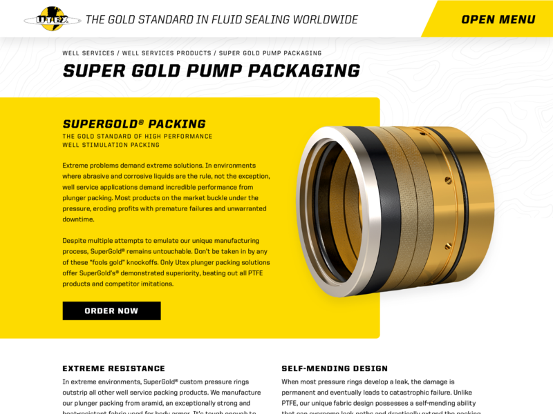 UTEX Industries Website industrial houston oil and gas gas oil layout web design website web typography ux type branding ui