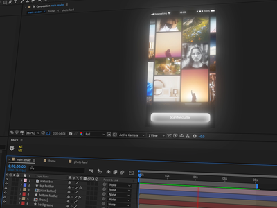 Behind The Scenes → Clean photo clutter cleaning concept ui aftereffects app design ios animation