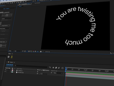 Behind the scenes: Twisted Typography kinetic typography kinetic type after effects typography animation typography type animation type animation