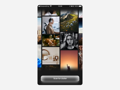 Photo Clutter Cleaner cleaning clutter ios after effects app design animation photo cleaner