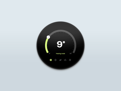 Thermostat Experiment #01 experiment animation concept thermostat iot ui aftereffects