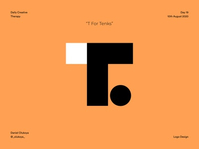 T for Tenks icon abstract dailycreativechallenge dailycreativetherapy logo illustrator daily design challenge design