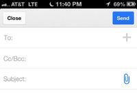Gmail compose attachment options
