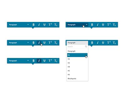 Floating Formatting Bar text editing habitat inkling blue formatting rich text text doc