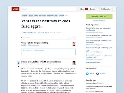 Quora Redesign quora web minimal clean red readable light large type