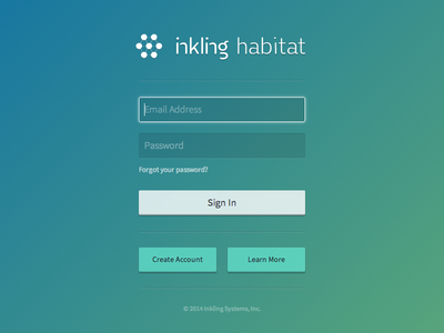 Habitat Sign In login sign in gradient form retina inkling web modal flat