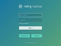Habitat Sign In login sign in gradient form retina inkling web modal flat