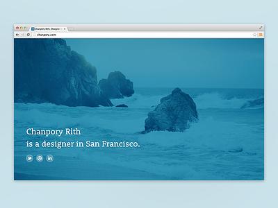 """""""Splash"""" Page for Chanpory.com splash temporary blue landing pageweb chrome landing page web chrome"""