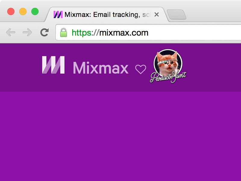 Mixmax + Product Hunt Easter Egg product hunt mixmax glass kitten easter egg