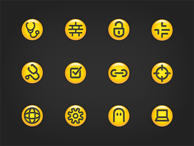 Symantec desktop icons small