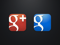 Alternate Google+ and Google Search iOS icons