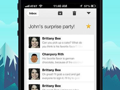 Gmail 2.0 Conversation View gmail ios retina iphone mobile minimal