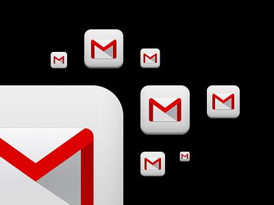 Gmail 2.0 App Icon icon retina apple ios iphone ipad google app