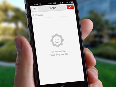 Gmail 2.0 Inbox Zero Easter Egg gmail ios google apple iphone retina ipad inbox app