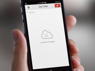Gmail 2.0 Offline Easter Egg icon retina apple ios iphone ipad google app offline cloud