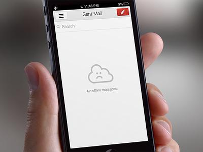 Gmail 2.0 Offline Easter Egg icon retina apple ios iphone ipad google app offline cloud