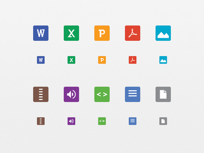 Gmail 2.0 Attachment Icons icons attachments gmail google ios iphone retina app apple ipad