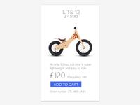 Online store cart