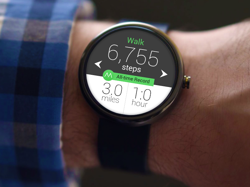Android Wear Moves App by Stewart Kyasimire on Dribbble