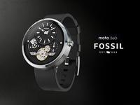 Moto360 Fossil