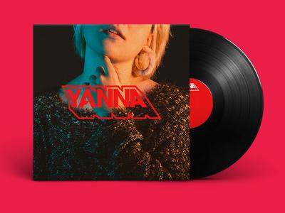 YANNA | SINGLE vinyl graphic design design flat typography musician music logo branding