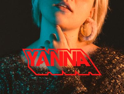 YANNA | SINGLE flat music vinyl musician vector graphic design logo branding typography design