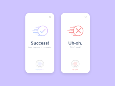Daily UI - 011 dailyui app design gradient message success error errorsuccess success message error message sketch user interface daily ui