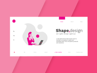 Shape.Design Hompage Header