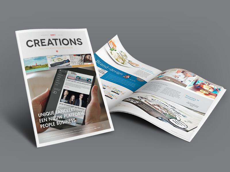 New Creations Magazine (free) magazine design free art cases articles showcase typography work portfolio scoops insides
