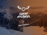 We wish you great Holidays