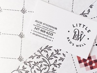 Final Little Red's Well Logo, Business Card, Patterns