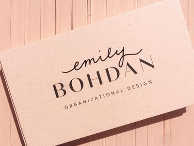 Emily Bohdan Business Cards