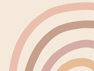 color study rainbow art pinks art print graphic art muted colors shapes abstract neutral rainbow