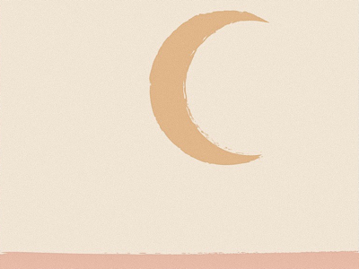 New Moon muted tones pink color study sketch moon art new moon moon graphic abstract