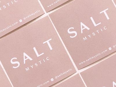Salt Mystic Packaging Stickers shop logo brand minimal logo minimal modern logo pink logo stickers modern