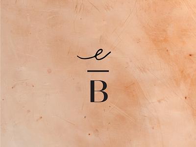 Monogram elegant minimal modern script branding su mark logomark monogram b e