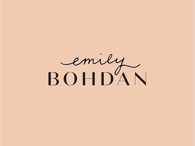 Emily Bohdan Logo luxury fashion simplistic minimalist minimal logo logo lettering handwritten