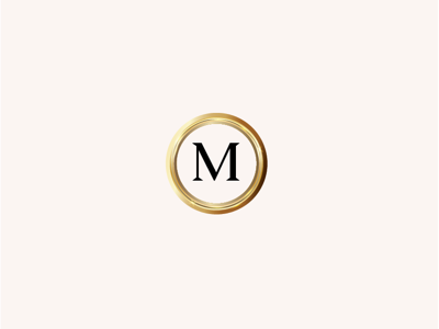 Malloves's Jewelers Submark submark monogram m luxury luxury brand gradient brand logo jeweler jewelry diamonds gold