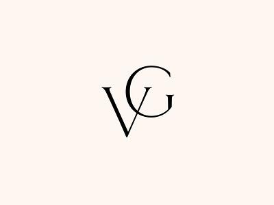 VG Monogram typography logo design monogram logo mark clean branding modern minimalist minimal logo