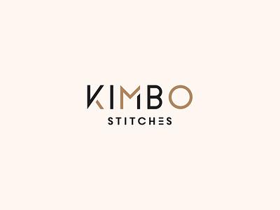 Kimbo Stitches design modern typography logo design clean logo mark icon minimalist minimal branding quilting logo