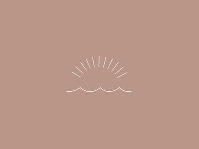 Pure Joy Branding logo icon logo mark logo branding brand beachy minimalist minimal