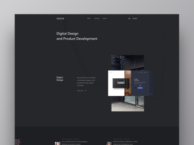 Inove Agency digital uiux uidesign userinterface webdesign sketch redesign developement we design website agency inove