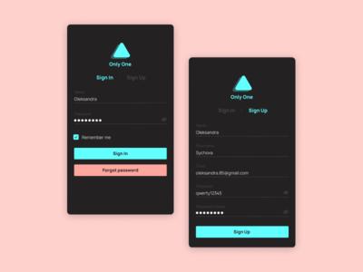 Sign Up Screen Design