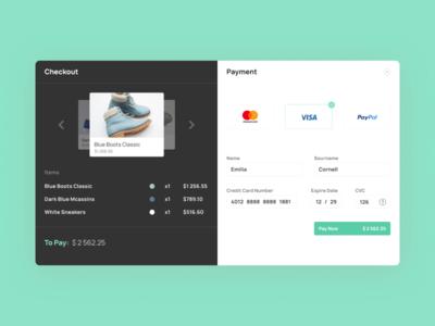 Credit Card Checkout Design