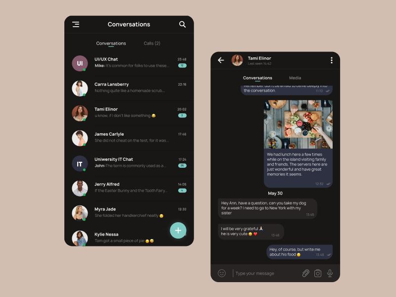 Direct Messaging direct direct messaging messenger messenger app 013 figma mobile uiux mobile ui mobile app 100daysofui ux ui uiux design
